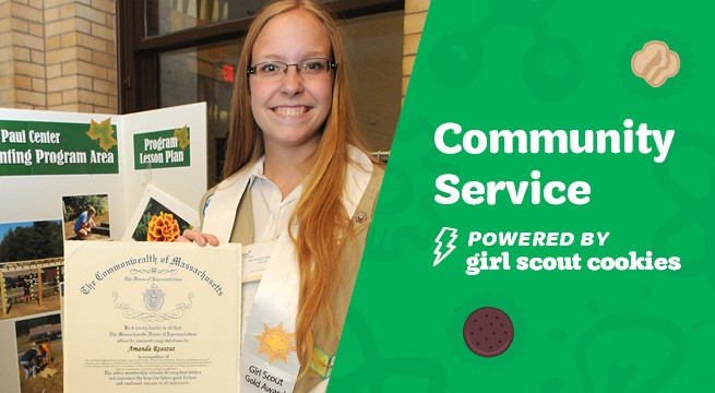 Community service...powered by Girl Scout Cookies.