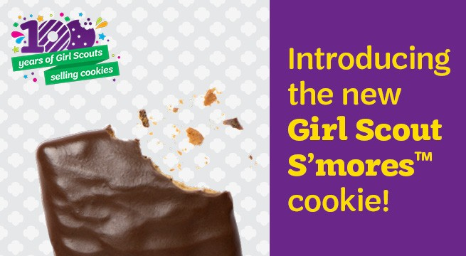Introducing the new Girl Scout S'mores cookie!