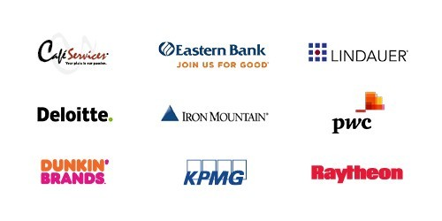 Café Services, Deloitte, Dunkin' Brands, Eastern Bank, Iron Mountain, KPMG, Lois L. Lindauer Searches, PwC, Raytheon