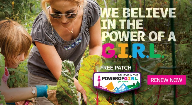 Renew your Girl Scout membership today
